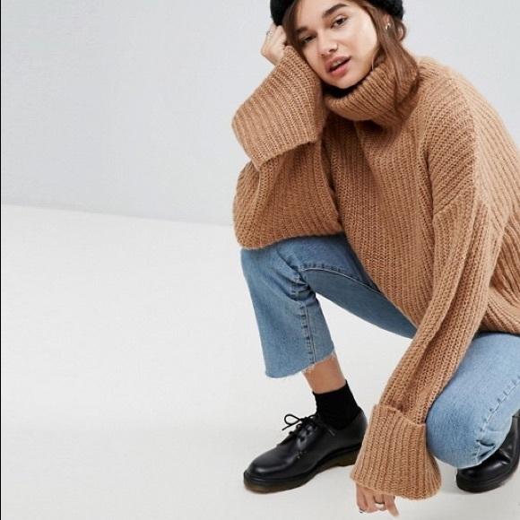 3bf1e017b9293a ASOS Sweaters | Oversized Sweater With Deep Cuffs Sz 12 | Poshmark